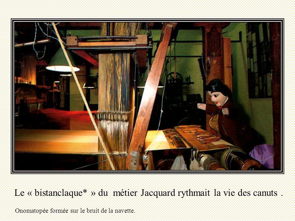 Le « bistanclaque* » du métier Jacquard rythmait la vie des canuts .