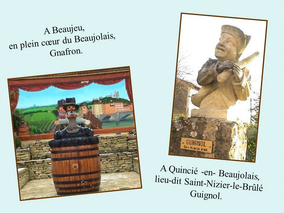 en plein cœur du Beaujolais, Gnafron.