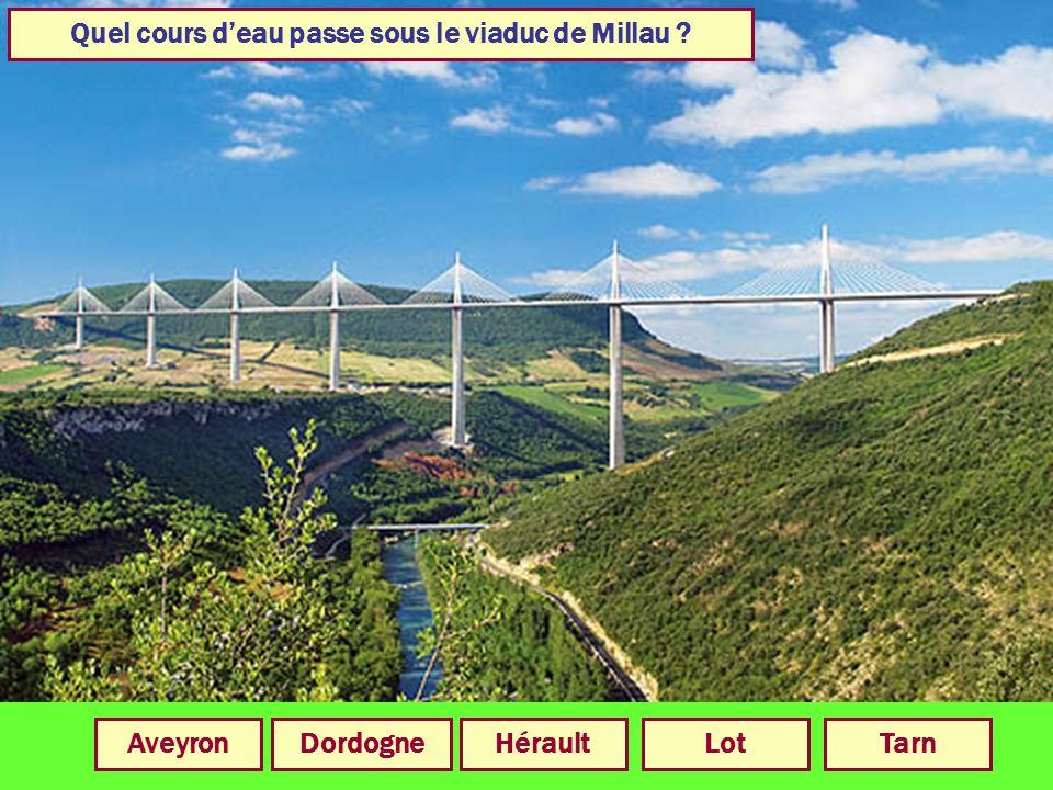 Quel cours d'eau passe sous le viaduc de Millau