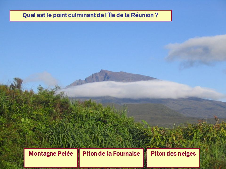 Quel est le point culminant de l'Île de la Réunion