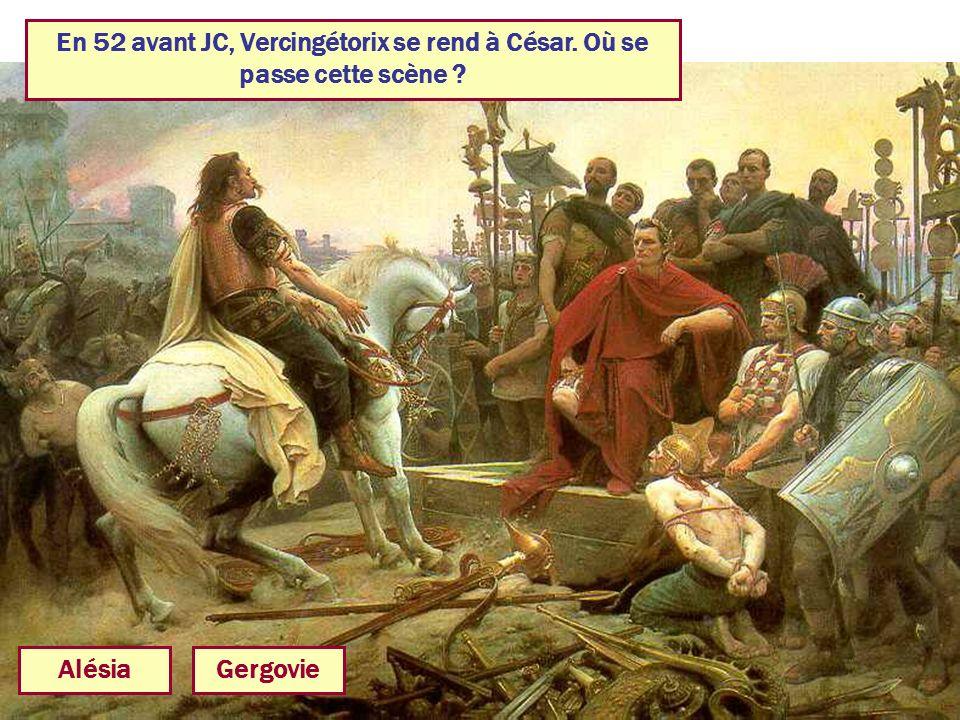 En 52 avant JC, Vercingétorix se rend à César. Où se passe cette scène