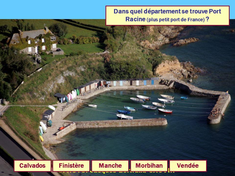 Dans quel département se trouve Port Racine (plus petit port de France)