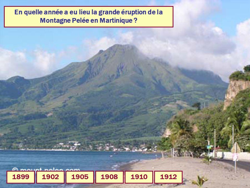 En quelle année a eu lieu la grande éruption de la Montagne Pelée en Martinique