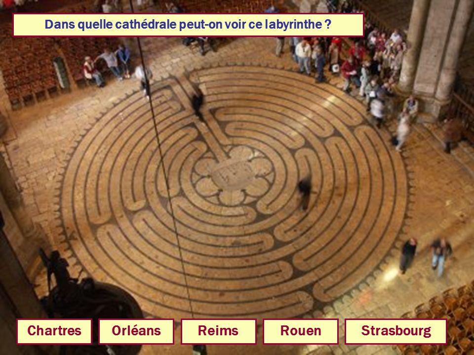 Dans quelle cathédrale peut-on voir ce labyrinthe