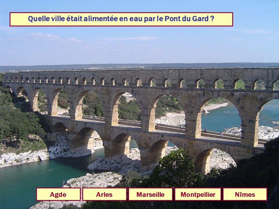 Quelle ville était alimentée en eau par le Pont du Gard