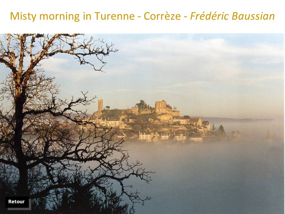Misty morning in Turenne - Corrèze - Frédéric Baussian