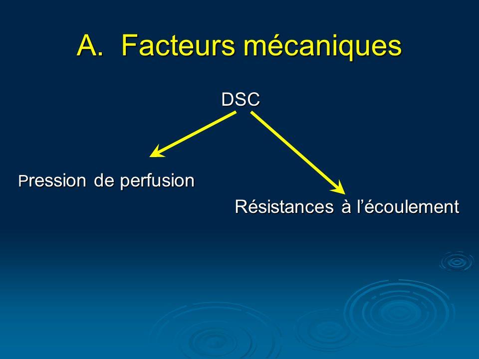 Facteurs mécaniques DSC Résistances à l'écoulement