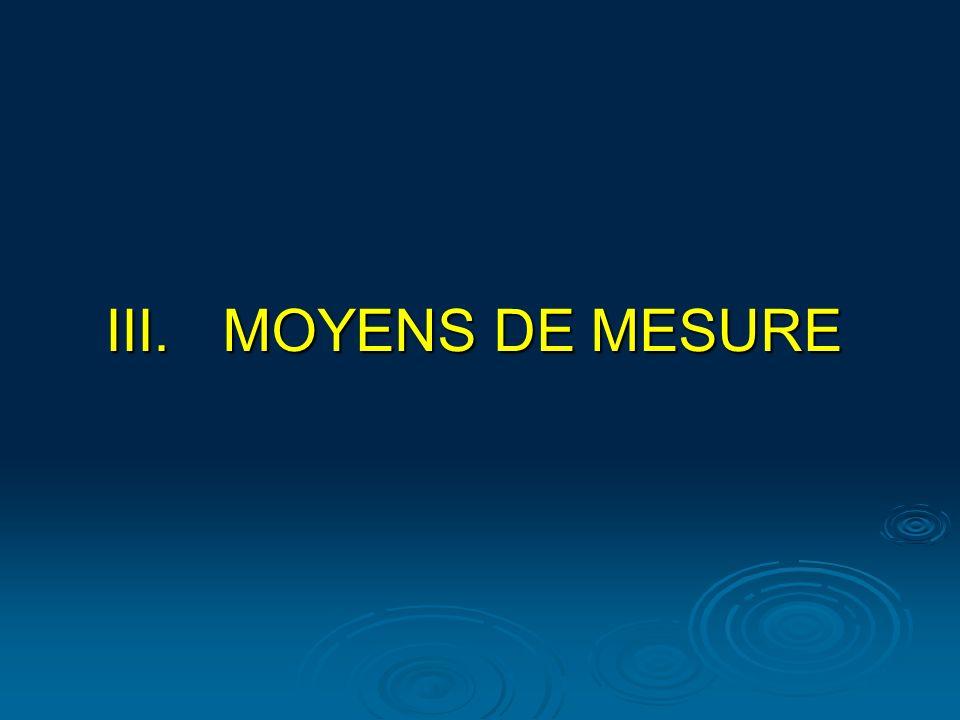 MOYENS DE MESURE