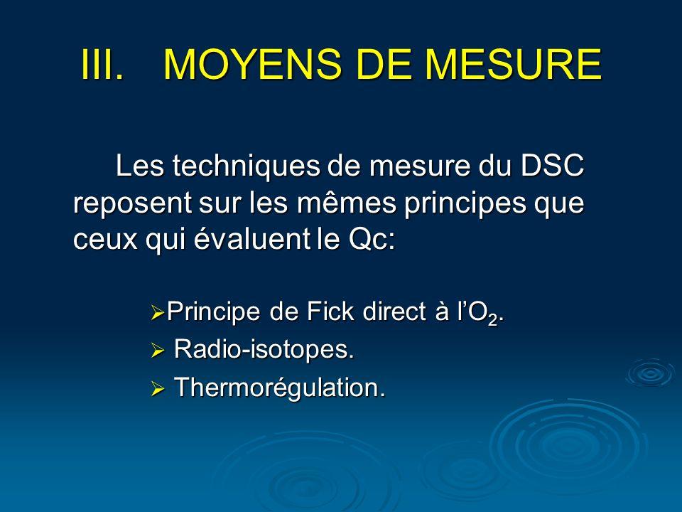 MOYENS DE MESURE Les techniques de mesure du DSC reposent sur les mêmes principes que ceux qui évaluent le Qc:
