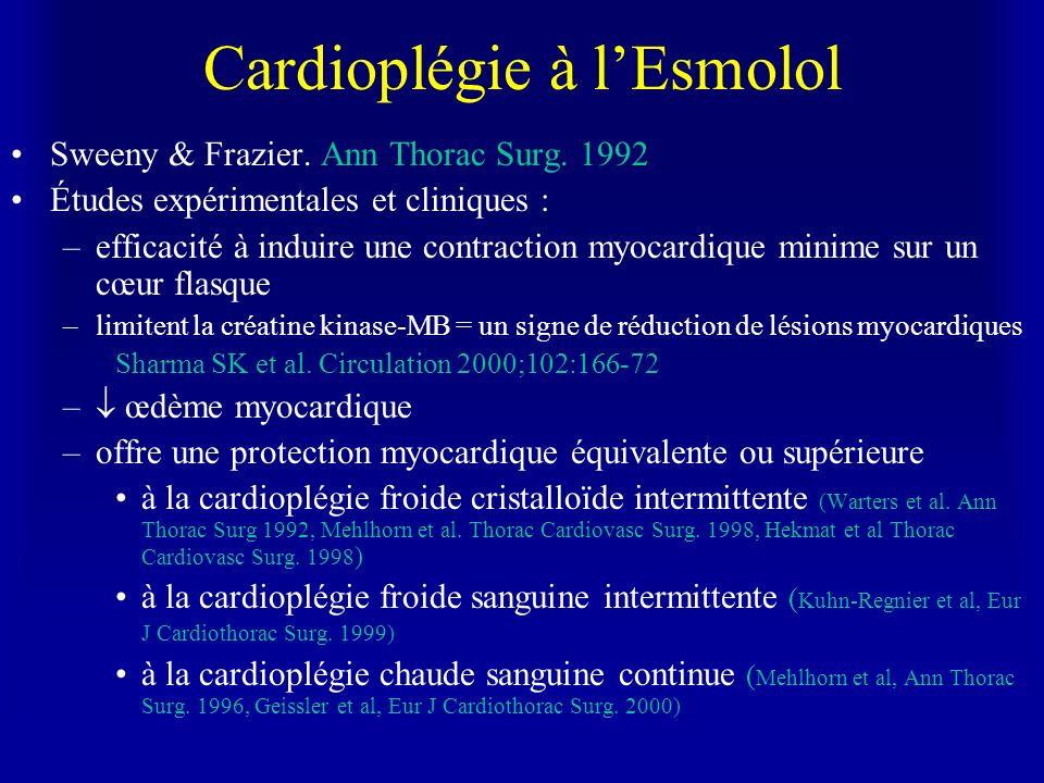 Cardioplégie à l'Esmolol