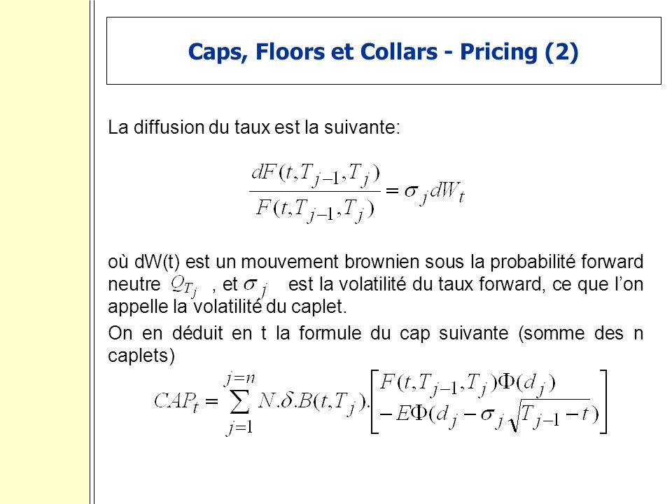 Caps, Floors et Collars - Pricing (2)