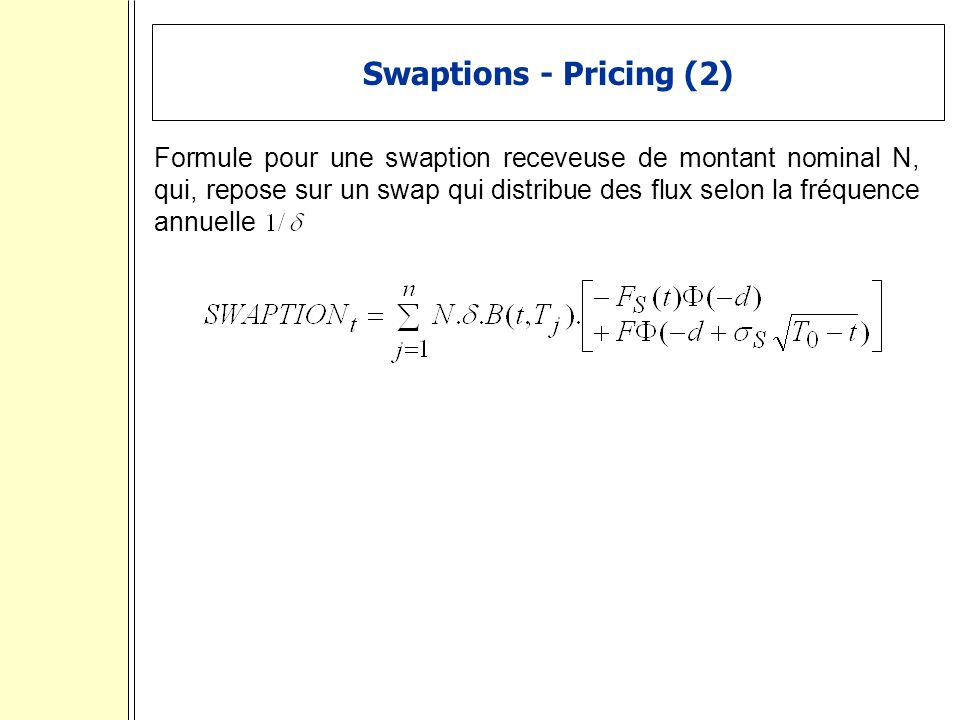 Swaptions - Pricing (2)