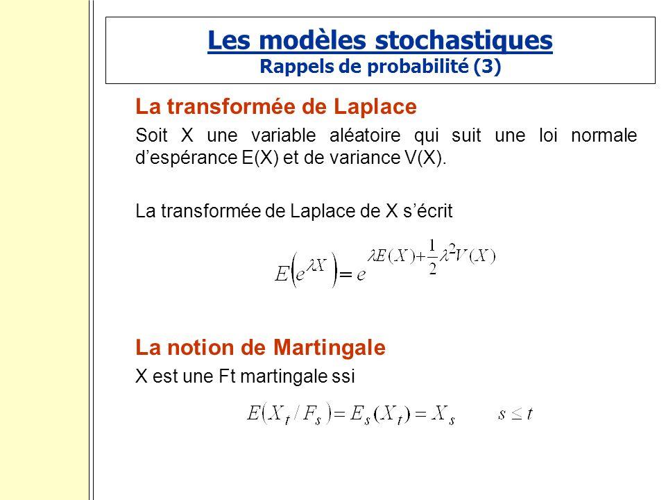 Les modèles stochastiques Rappels de probabilité (3)