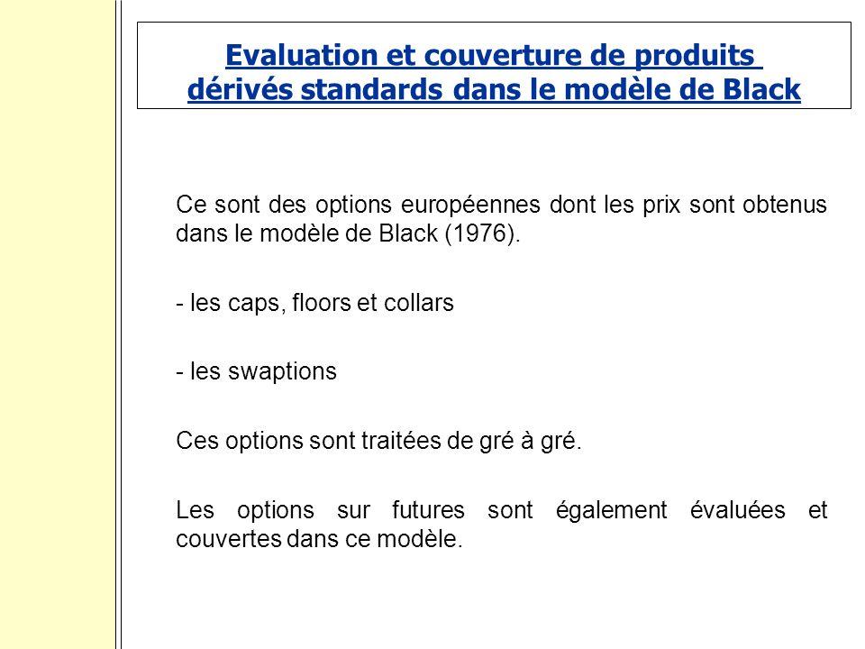 Evaluation et couverture de produits