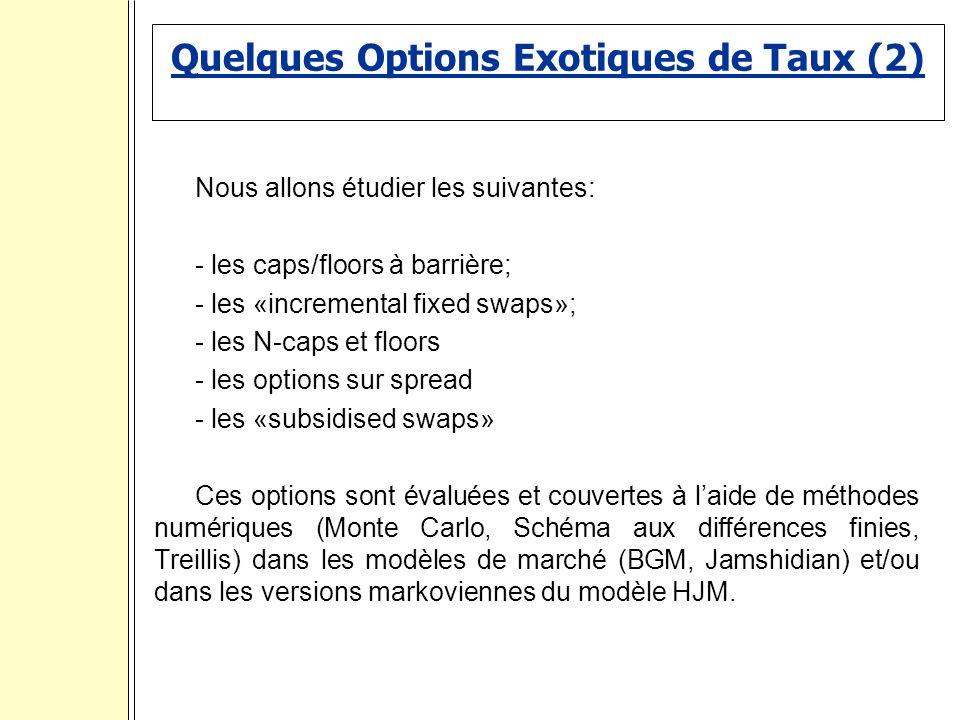 Quelques Options Exotiques de Taux (2)