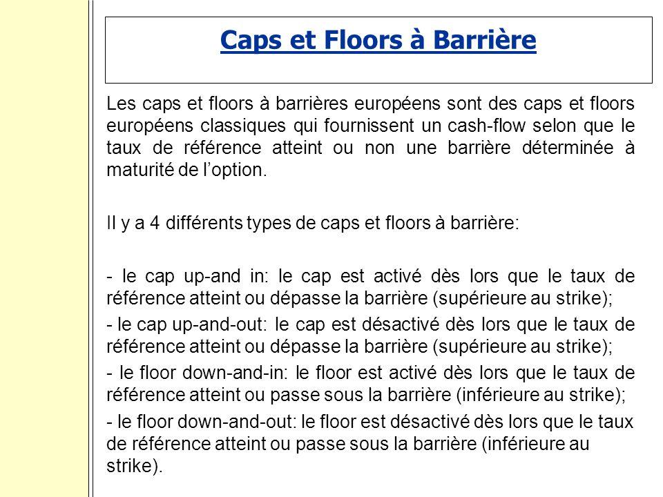 Caps et Floors à Barrière