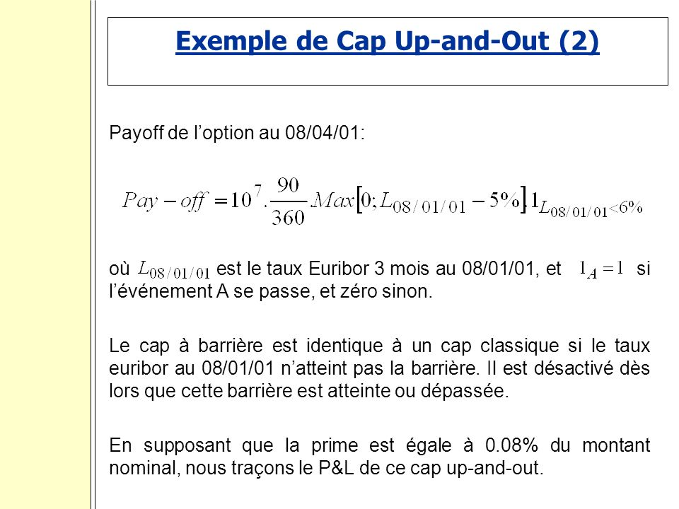 Exemple de Cap Up-and-Out (2)