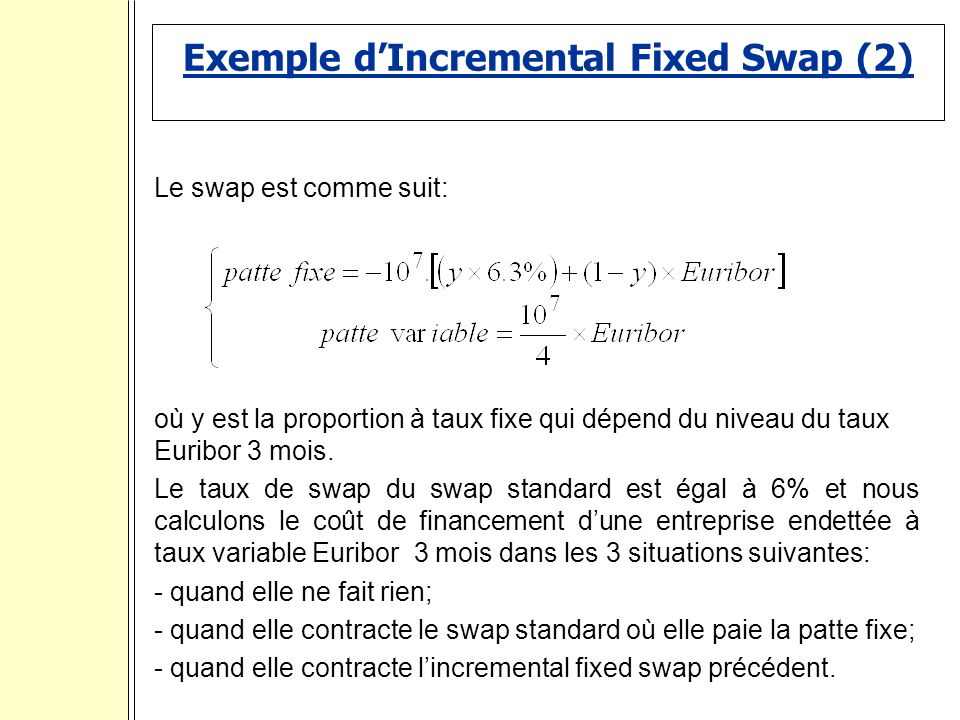 Exemple d'Incremental Fixed Swap (2)