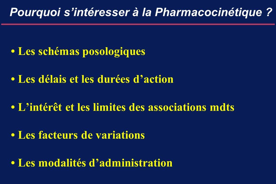 Pourquoi s'intéresser à la Pharmacocinétique
