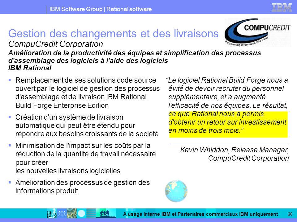 Gestion des changements et des livraisons CompuCredit Corporation