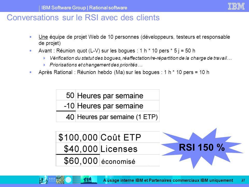 Conversations sur le RSI avec des clients Un exemple de gain de TEMPS et d ARGENT