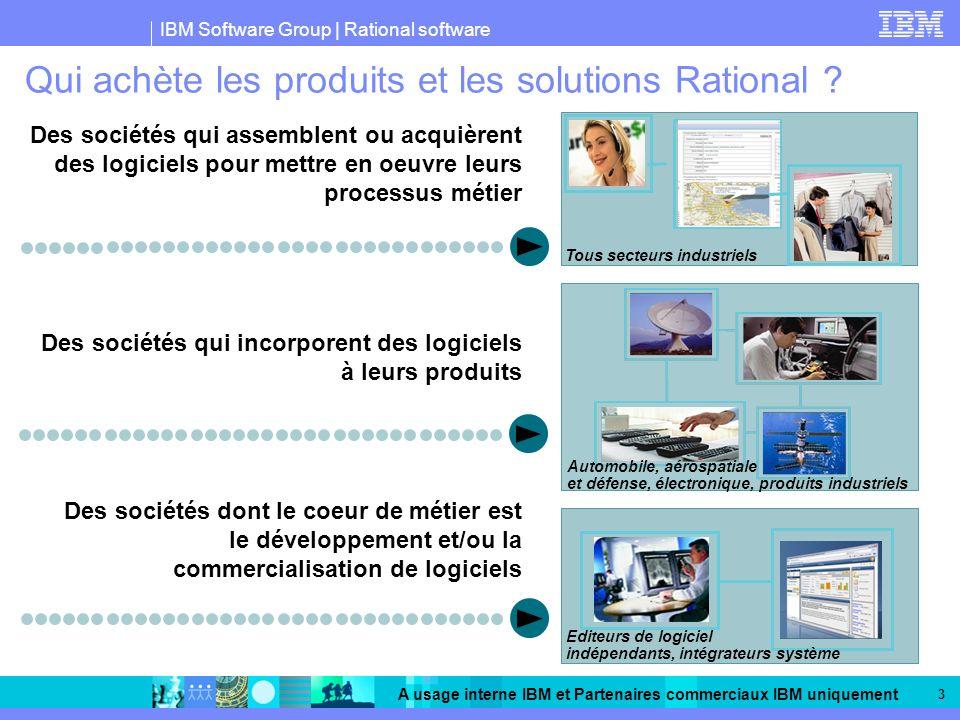 Qui achète les produits et les solutions Rational