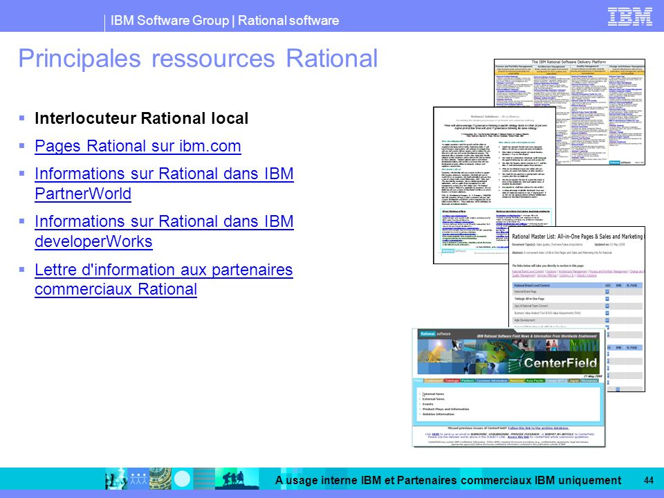 Principales ressources Rational