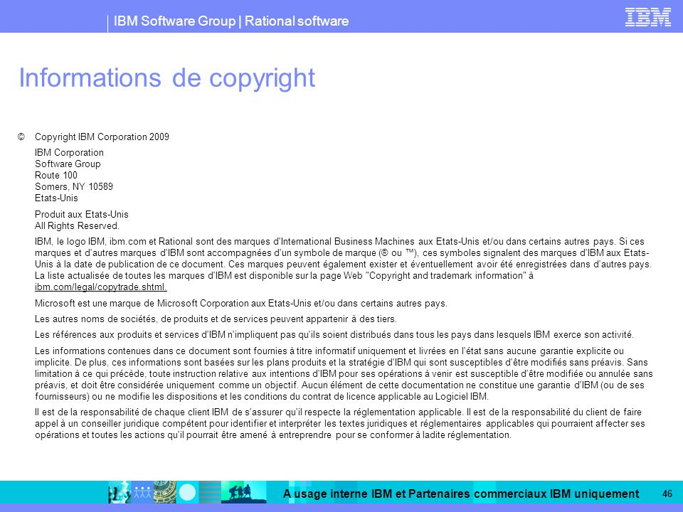 Informations de copyright