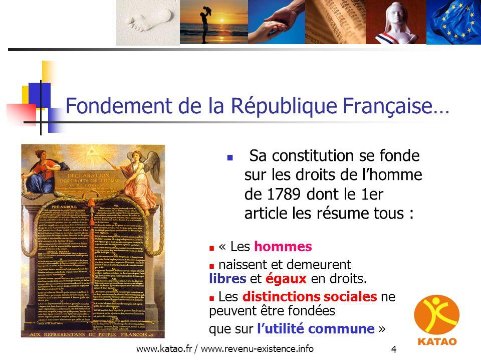 Fondement de la République Française…