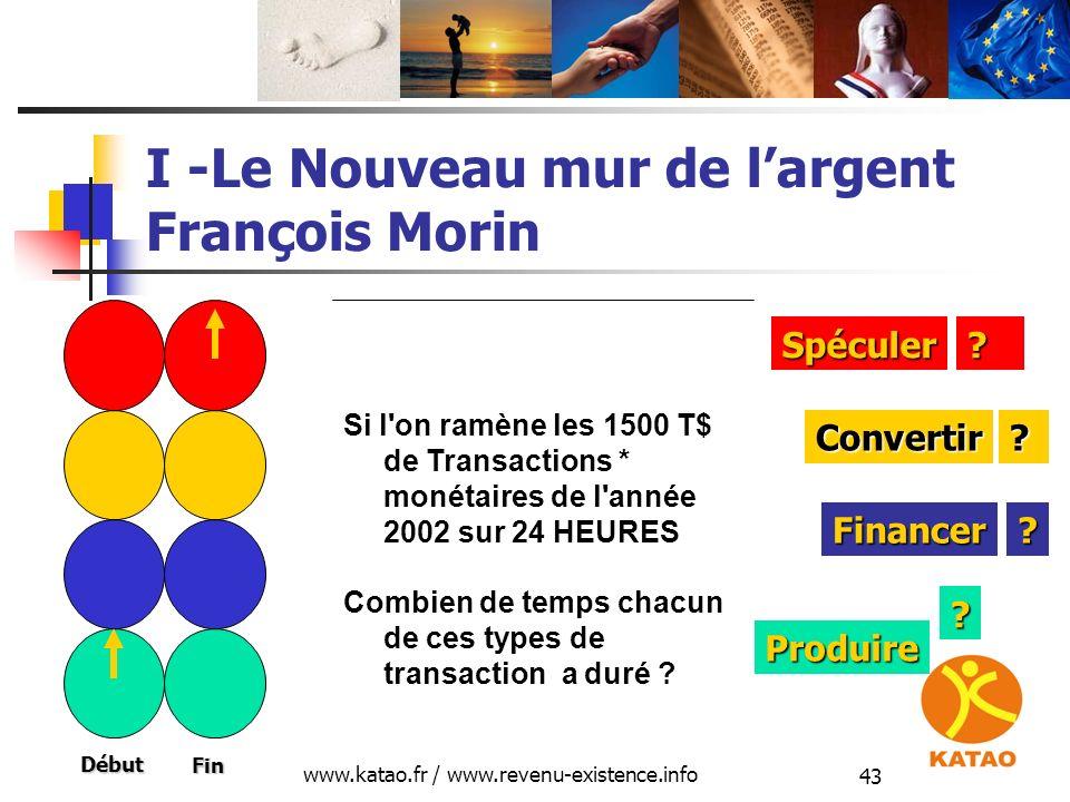 I -Le Nouveau mur de l'argent François Morin