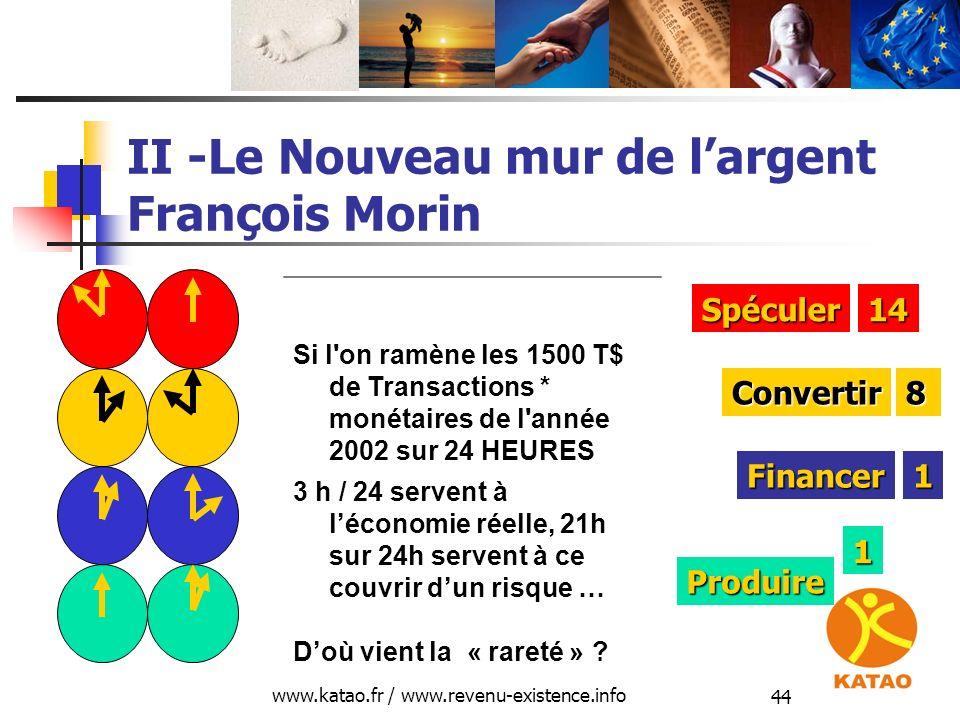 II -Le Nouveau mur de l'argent François Morin