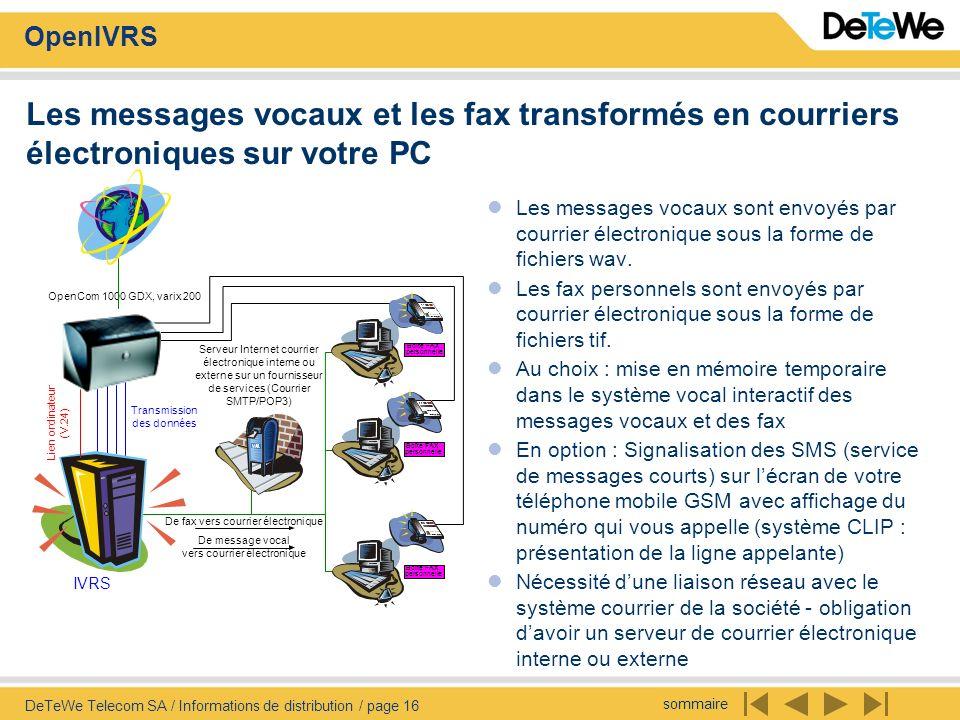 Les messages vocaux et les fax transformés en courriers électroniques sur votre PC