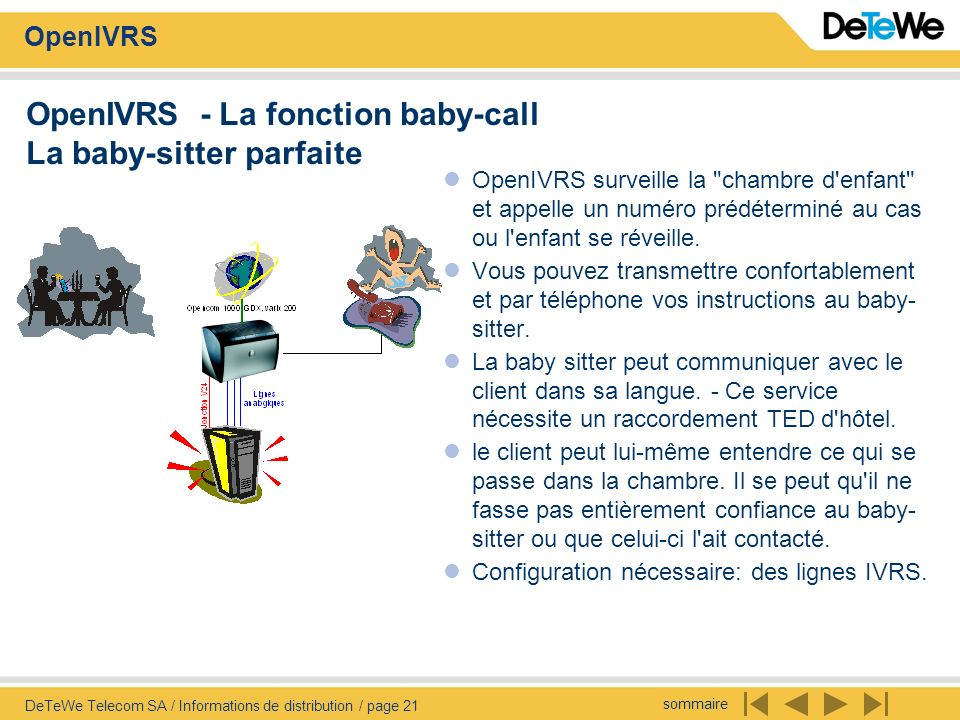 OpenIVRS - La fonction baby-call La baby-sitter parfaite