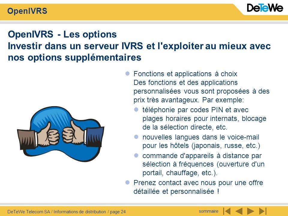 OpenIVRS - Les options Investir dans un serveur IVRS et l exploiter au mieux avec nos options supplémentaires
