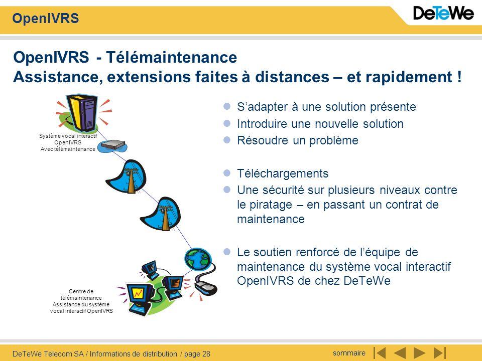 OpenIVRS - Télémaintenance Assistance, extensions faites à distances – et rapidement !