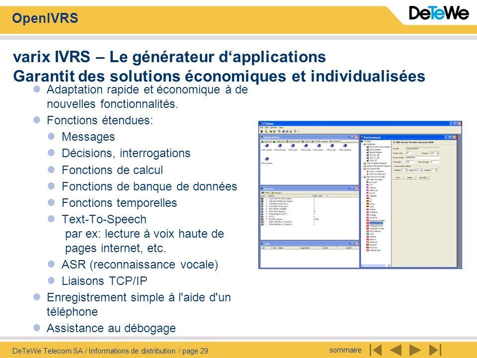 varix IVRS – Le générateur d'applications Garantit des solutions économiques et individualisées