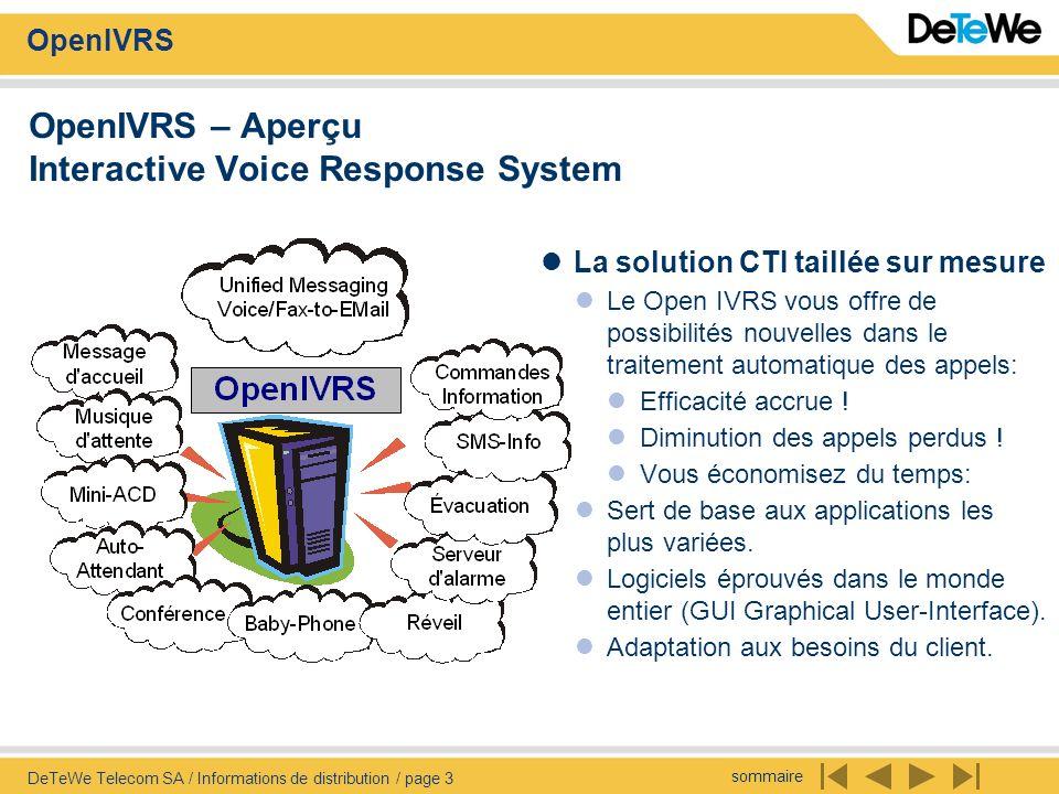 OpenIVRS – Aperçu Interactive Voice Response System