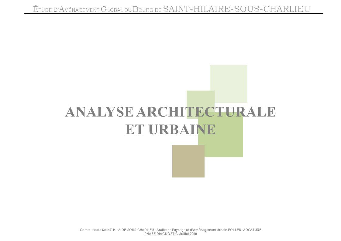 ANALYSE ARCHITECTURALE ET URBAINE