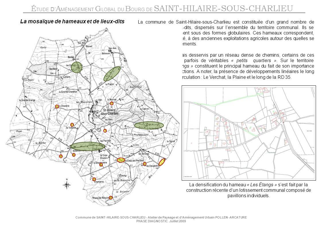 La mosaïque de hameaux et de lieux-dits