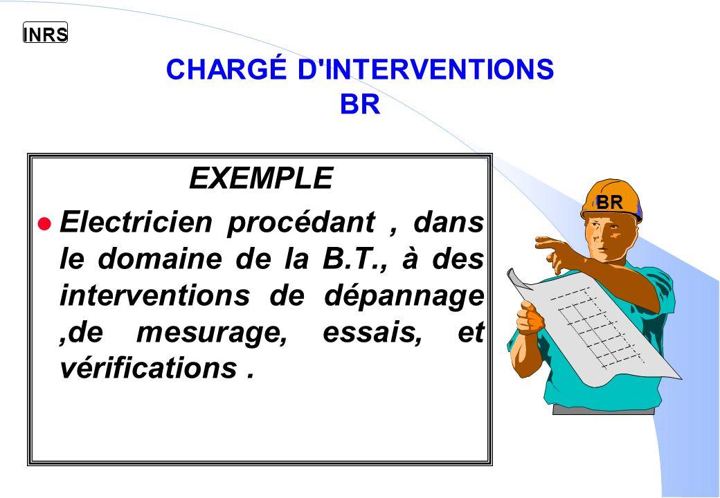 CHARGÉ D INTERVENTIONS BR