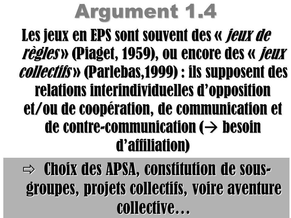 Argument 1.4