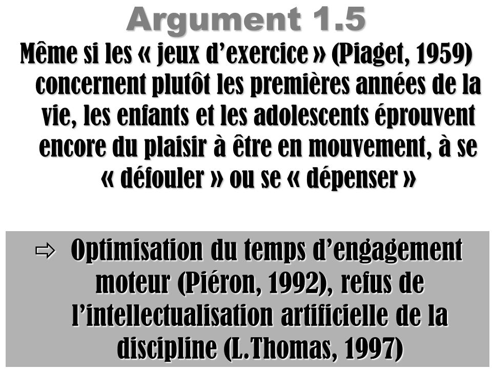Argument 1.5