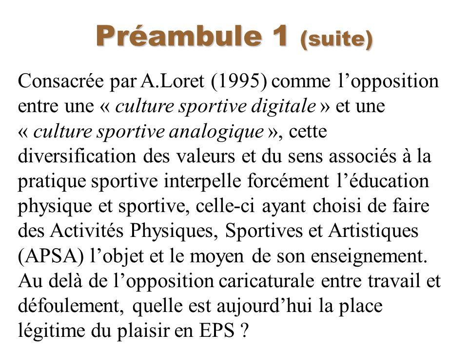 Préambule 1 (suite)
