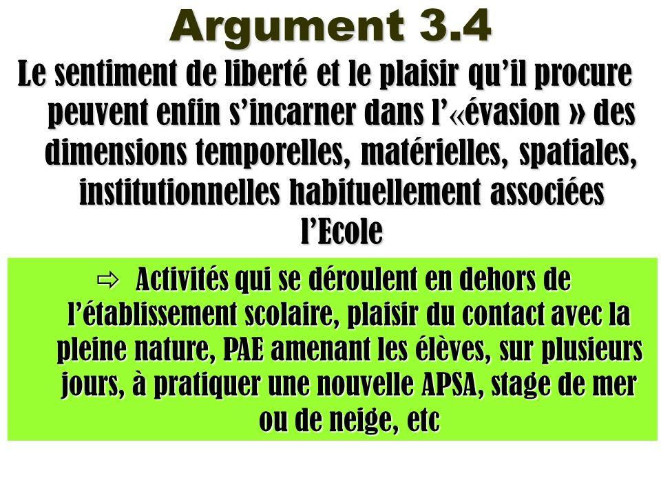 Argument 3.4