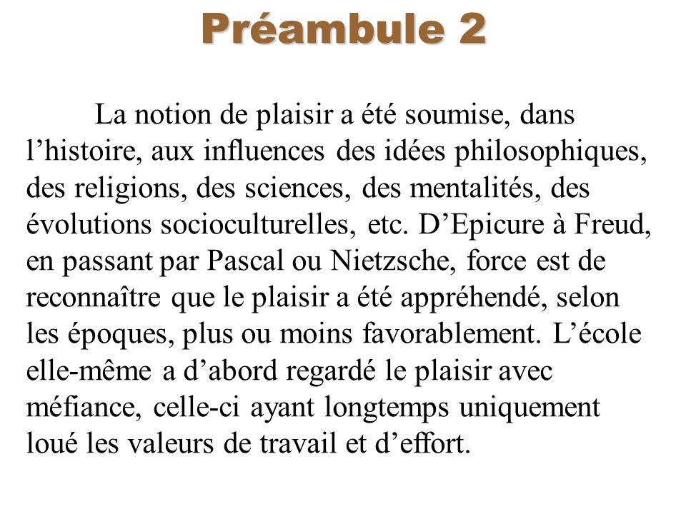 Préambule 2