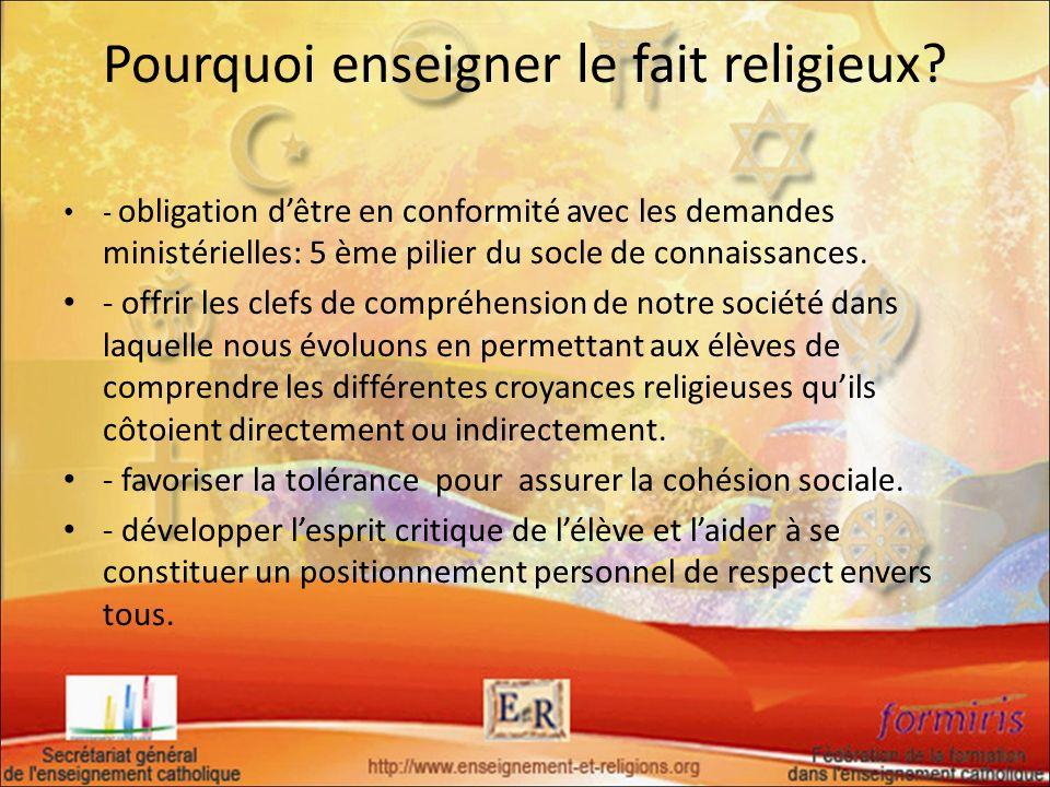 Pourquoi enseigner le fait religieux