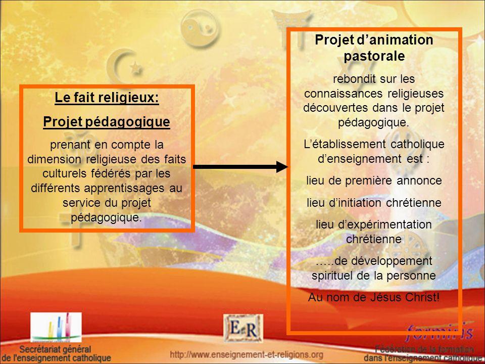 Projet d'animation pastorale
