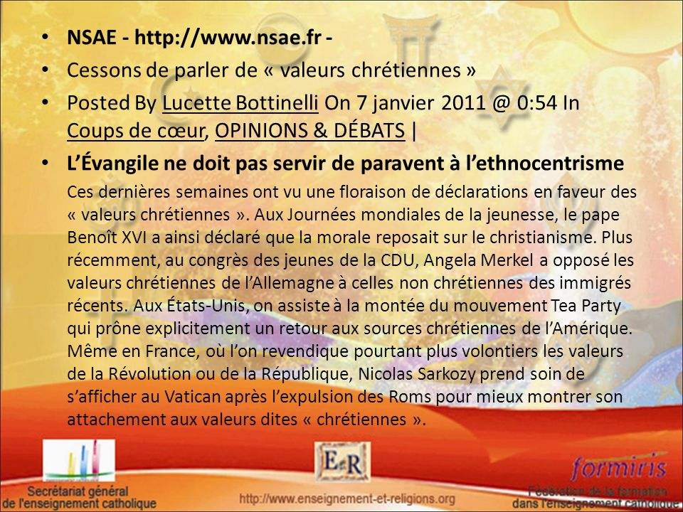 NSAE - http://www.nsae.fr -