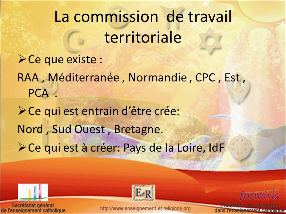 La commission de travail territoriale