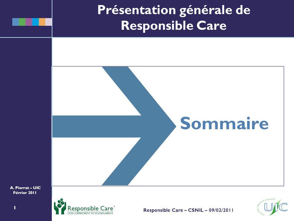 Présentation générale de Responsible Care